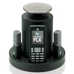 Беспроводной аналоговый конференц-телефон FLX™ (1 петличный и 1 настольный всенаправленный микрофоны)