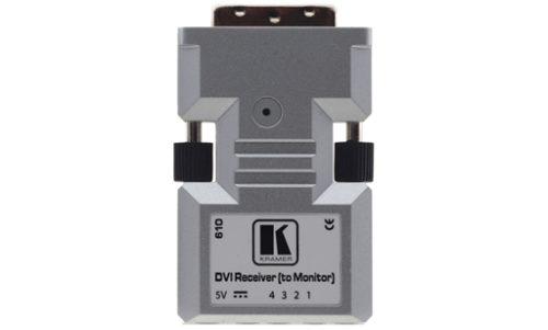 Малогабаритный приемник сигнала DVI разрешением до 1920x1200 по оптоволоконной линии на расстоянии до 500 м Kramer 610R