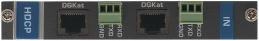 Входная плата с 2 портами DGKat и RS-232 для коммутатора Kramer VS-1616D Kramer DGKAT-IN2-F16/STANDALONE