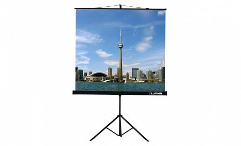 Компактные переносные экраны на штативе. Благодаря встроенному в штатив корректору трапецеидальных искажений обеспечивается точная настройка изображения.