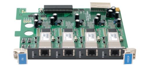 Входная плата с 4 оптическими портами для передачи HDMI для коммутатора Kramer VS-3232DN Kramer F670-IN4-F32/STANDALONE