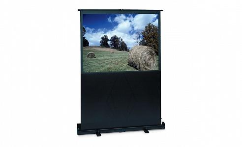 Легкий переносной проекционный экран с полотном формата HDTV. Корпус выполнен из алюминия с черным матовым покрытием.