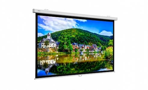 Профессиональные проекционные экраны с ручным управлением и надежным контролируемым возвратом полотна