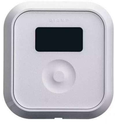 Cенсорная панель управления c OLED дисплеем. Врезной монтаж. Регулировка громкости и выбор каналов. С поддержкой PoE+