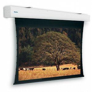 Проекционный экран для средних и крупных мероприятий с натянутым на петлях полотном для получения идеально ровной поверхности. Ширина полотна может быть от 3