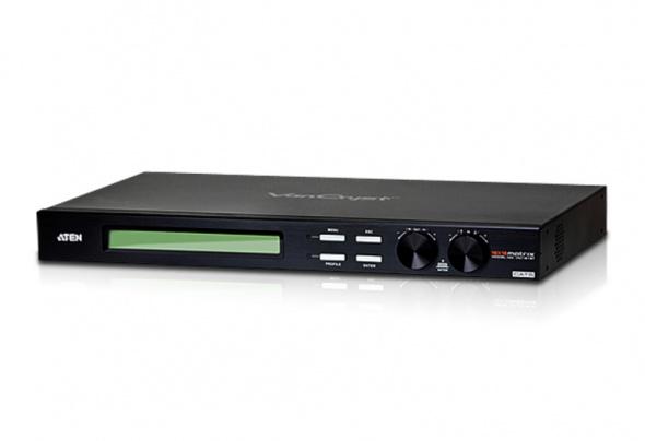 Матричный коммутатор VGA и Аудио по кабелю Cat 5 16х16