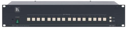 Высококачественный коммутатор 16х1 для сигнала VGA и балансного стереоаудиосигнала Kramer VP-161xl