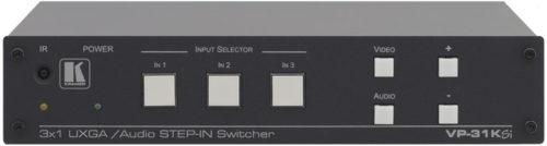 Коммутатор 3x1 сигналов VGA и небалансного стереоаудио с передатчиком по витой паре Kramer VP-31KSI