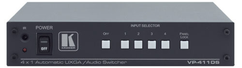 Коммутатор 4х1 сигналов VGA и аудио с функцией включения резервного источника Kramer VP-411DS