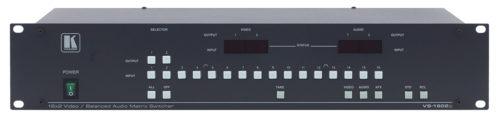 Матричный коммутатор 16:2 сигналов композитного видео и аудио стерео сигналов с переключением в интервале кадрового гасящего импульса Kramer VS-1602xl