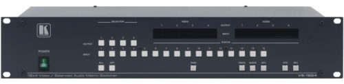 Матричный коммутатор 16:4 сигналов композитного видео и аудио стерео сигналов с переключением в интервале кадрового гасящего импульса Kramer VS-1604