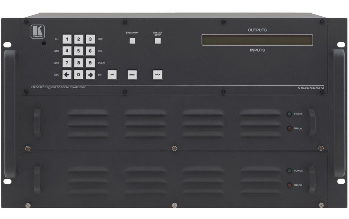 Шасси мультиформатного матричного коммутатора размерностью до 32x32 Kramer VS-3232DN/STANDALONE