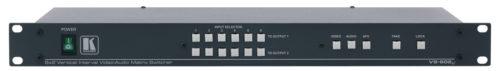 Матричный коммутатор 6:2 композитных видео сигналов и аудио стерео сигналов с переключением в интервале кадрового гасящего импульса Kramer VS-602xl