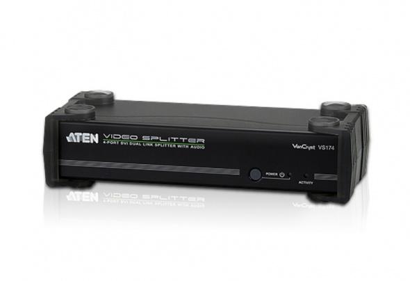 Разветвитель DVI Dual Link и Аудио 4-портовый