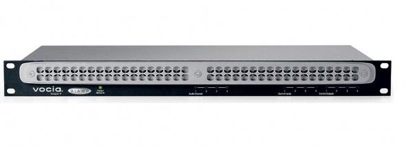 Сетевого модуль аналоговых аудиовыходов на 4 канала для работы в сетях Ethernet по протоколу CobraNet. Встроенный DSP процессор. Порт RJ45. Разъемы Phoenix. 4 GPIO