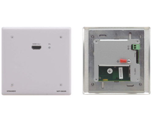 Настенная панель-приемник сигнала HDMI 4K из кабеля витой пары