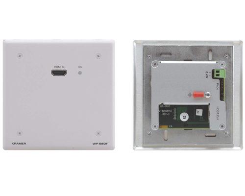 Настенная панель-передатчик сигнала HDMI 4K в кабель витой пары