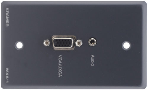 Настенная панель-переходник с разъема VGA и аудио (розетка 3.5-мм) на клеммный блок Kramer WXA-1