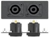 AAPs - Audio - Два 4-полюсных коннектор - Neutrik Speakon M - манжеты для пайки