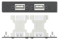 AAPs - Control - Two USB A Female to USB B Female Adapters