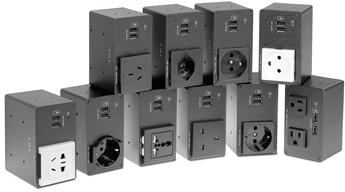 Лючки Cable Cubby Series/2 - Блоки питания серии AC+USB 200