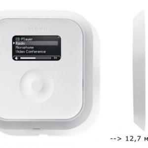 Сетевая сенсорная панель управления c OLED экраном накладного монтажа. Регулировка громкости и выбор до 32 пресетов