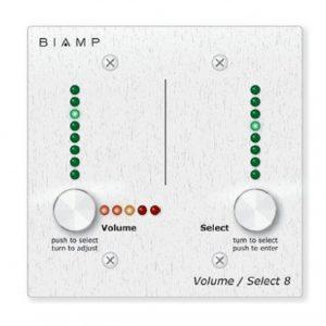 Алюминиевая панель регулирования громкости и выбора пресетов для 8 каналов для работы с AudiaFLEX или NEXIA по шине RCB