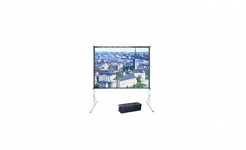 Переносной складной натяжной экран Projecta Fast-Fold Deluxe шириной до 427 см для использования в любых местоположениях.