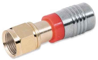 Опрессовываемые разъемы и аксессуары - F-Type Male Compression Connectors-Gold