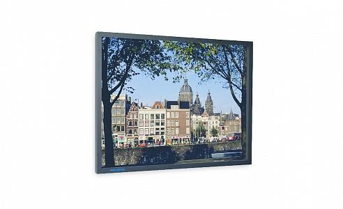 Стационарный проекционный экран Projecta PermScreen с черной алюминиевой рамой