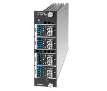Fiber Optic Audio and Control Products - PowerCage FOX AEX 104