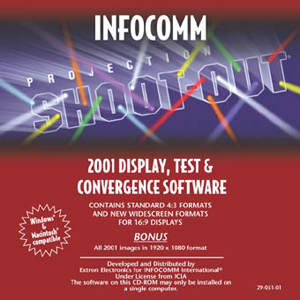 Тестирование и измерение - Previous InfoComm Projection Shoot-Out® CD-ROMs