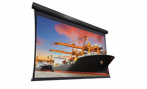 Проекционный экран большого размера с идеально плоской поверхностью