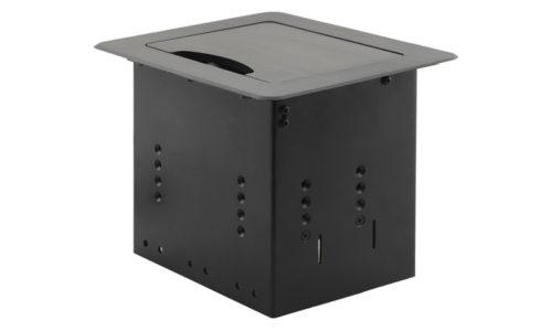 Встраиваемая в мебель коробка для укладки и подключения кабелей Kramer TBUS-9/DE/220V