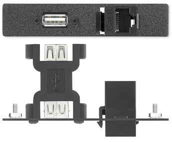 AAPs - Data/Phone - One USB A Female to A Female Barrel