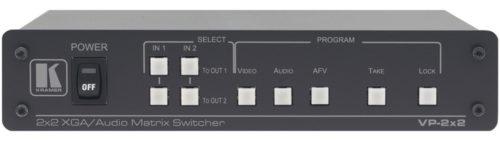 Матричный коммутатор 2х2 сигналов VGA и балансных стереоаудиосигналов Kramer VP-2x2