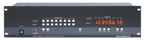 Высококачественный матричный коммутатор 6х6 сигналов RGBHV и балансных стереофонических аудиосигналов Kramer VP-66ETH