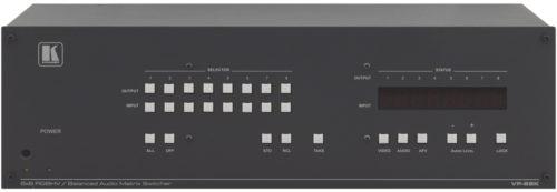 Коммутатор 8х8 cигналов RGBHV и балансных звуковых стереосигналов c системой KR-ISP™