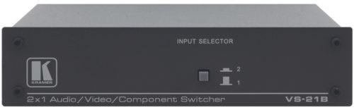 Коммутатор 2:1 композитного и стерео аудио или компонентного видео сигналов Kramer VS-21B