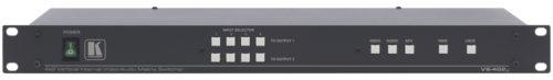 Матричный коммутатор 4:2 композитных видео сигналов и аудио стерео сигналов с переключением в интервале кадрового гасящего импульса Kramer VS-402xl
