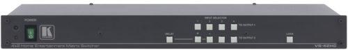 Высококачественный матричный коммутатор 4х2 компонентных видеосигналов и цифровых аудиосигналов S/PDIF Kramer VS-42HC