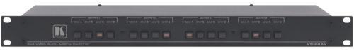 Механический матричный коммутатор 4:4 сигналов композитного видео и стерео аудио сигналов Kramer VS-44AV