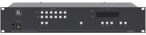 Высококачественный матричный коммутатор 6х6 сигналов композитного видео и стереоаудиосигналов с переключением в интервале кадрового гасящего импульса Kramer VS-606xl
