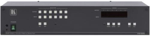 Матричный коммутатор 6х6 композитного видеосигнала и звуковых стереосигналов с коммутацией в интервале кадрового гасящего импульса Kramer VS-626
