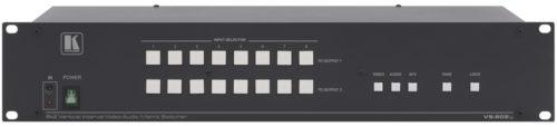 Матричный коммутатор 8:2 композитных видео сигналов и аудио стерео сигналов с переключением в интервале кадрового гасящего импульса Kramer VS-802xl