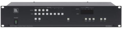 Матричный коммутатор 8х4 сигналов композитного видео и стереоаудиосигналов с переключением в интервале кадрового гасящего импульса Kramer VS-804xl