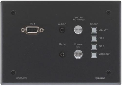 Универсальная панель управления с коммутатором видео и аудио сигналов Kramer WP-501