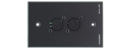 Настенная панель-переходник с 2 разъемов XLR (розетка) на клеммный блок Kramer WXL-2F